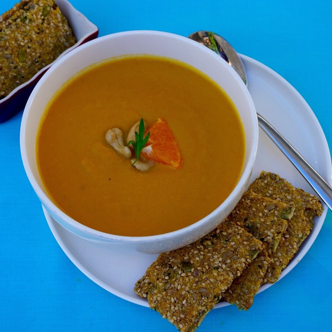 Creamy Carrot Orange Soup with Cashews - Making Healthy ...